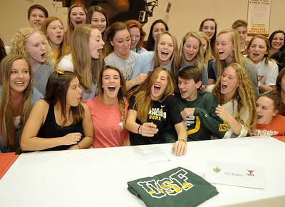 Ella Reames And Classmates Sign Scholarships