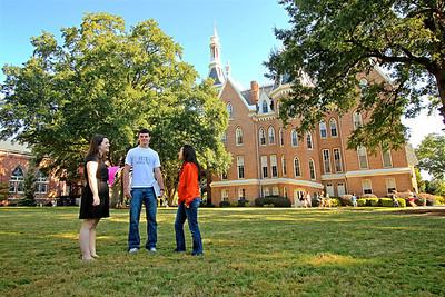 Campus shoot on Quad
