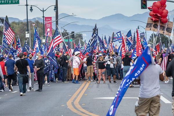 Trump Rally Beverly Hills Oct 31 2020