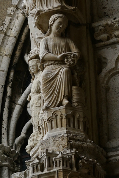 Chartres Cathedral North Porch Woman