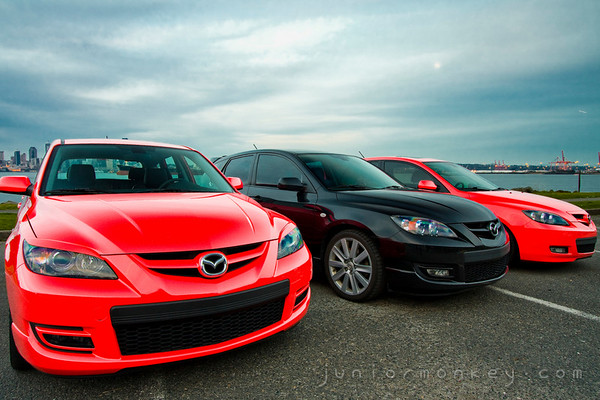 04.07.09 - Mazdas at Alki Beach