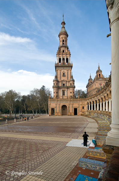 Tue 3/15 in Seville: Visiting the Spanish Pavilion built for the Ibero-American Exposition of 1929