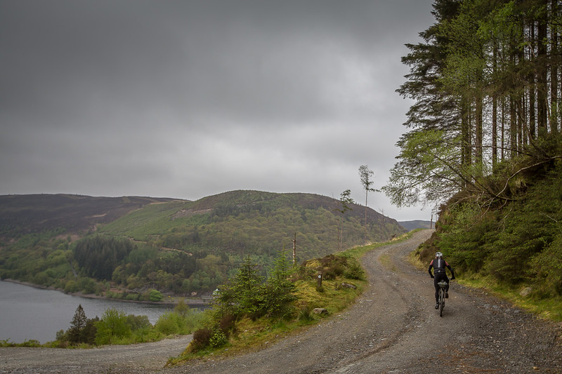 Mike Hall above the Elan Valley.