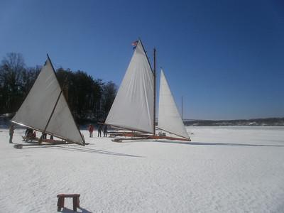 Ice Boating on Hudson