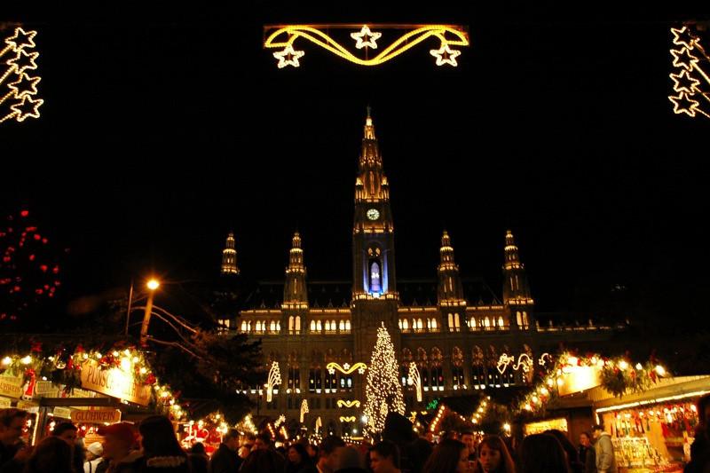 Rathaus (Municipal House) Christmas Market - Vienna, Austria