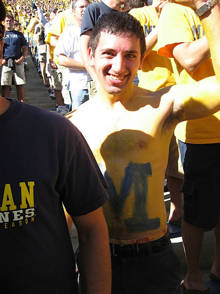 Me painted for the Michigan vs Penn State game