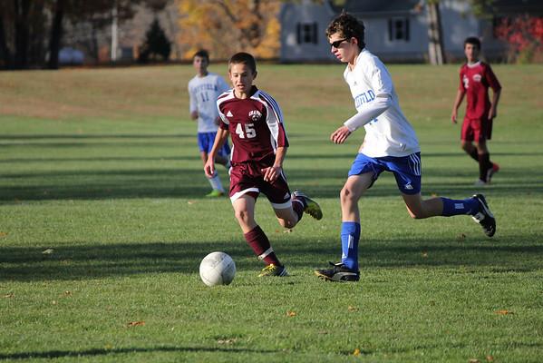 Freshmen soccer vs Suffield 10_25_13
