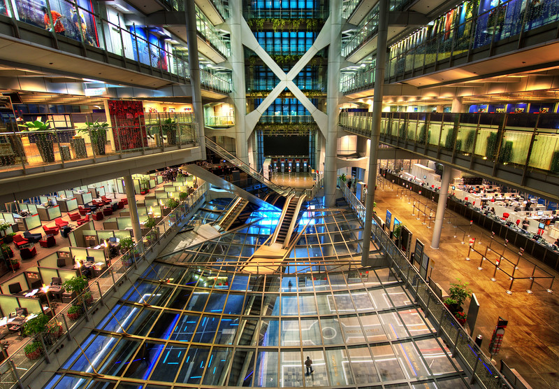 Banking at HSBC in Hong Kong