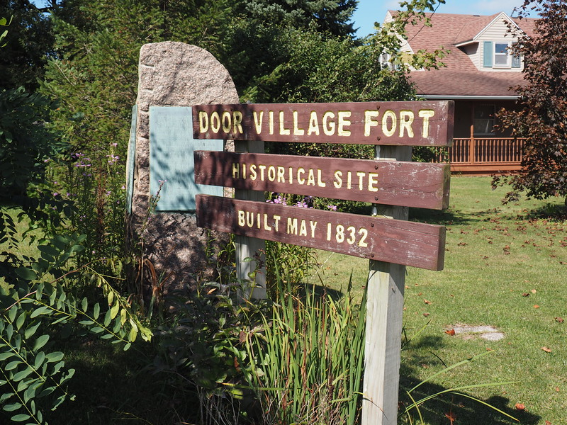Historic Markers at the site of the Door Village Fort