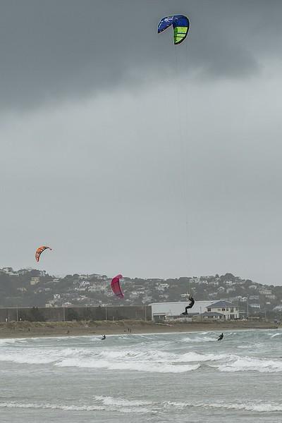 20160325 Kite Boarders at Lyall Bay, Wellington _MG_2329