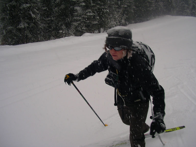 After this snow dump, the next day is a powder day on the lifts with my telly skis ~ skied with Brian, Brian, and Doc, and Jeff Wright for a few.