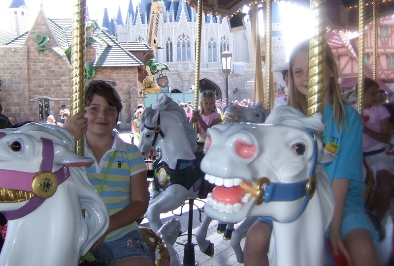 again on the carousel
