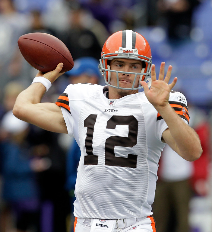 . Associated Press file Colt McCoy completed 23 of 33 passes in his NFL debut, a 28-10 loss last week at Pittsburgh.