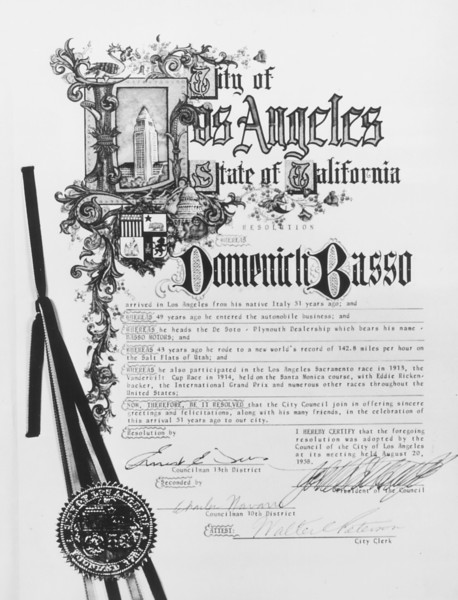 1958, City of LA Award