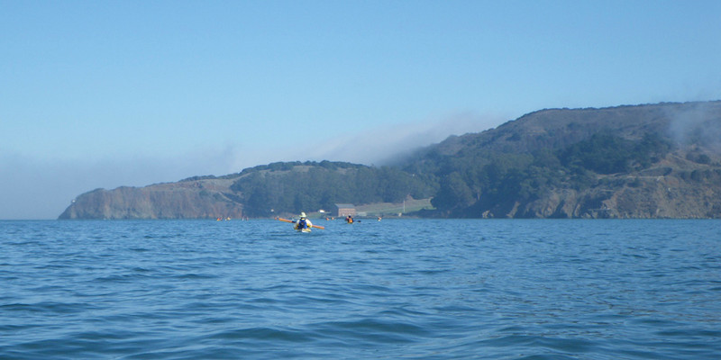 As we approach Angel Island, the fog clears to show us an unbelievably beautiful day.