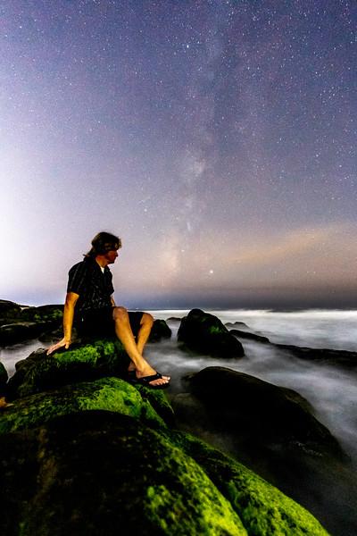 Milky Way Self-Portrait At Windansea Beach. 4/4
