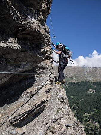 Zermatt Mammut Via-ferrata 25.8.2015