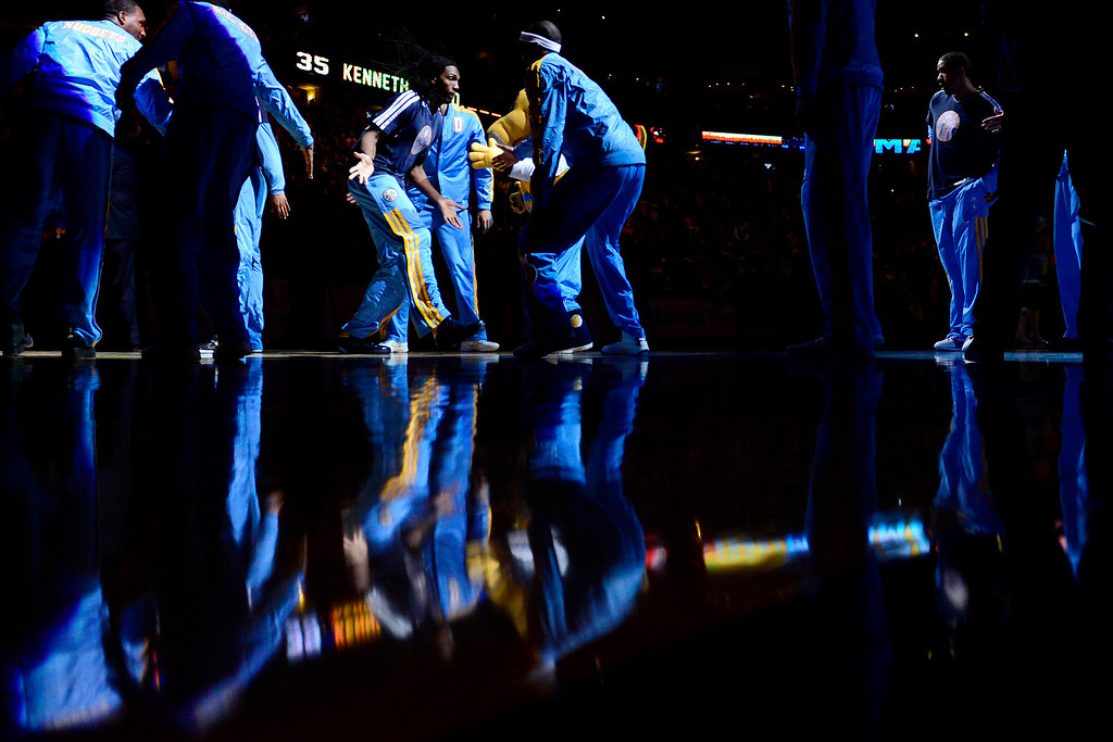 . Denver Nuggets small forward Kenneth Faried (35) is introduced before the game against the L.A. Clippers at the Pepsi Center on Tuesday, January 1, 2013. AAron Ontiveroz, The Denver Post