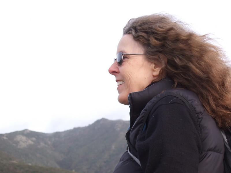 Eva Strauss-Rosen. Hike with Joel McEwen, girl friend, Jean Marie Offenbacher and my wife Eva Strauss-Rosen. Moss Beach Trails. Dec 27, 2010.