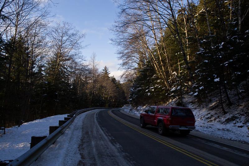 The road to Auke Rec.