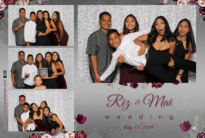 Riz & Maile's Wedding (Mini LED Open Air Photo Booth)