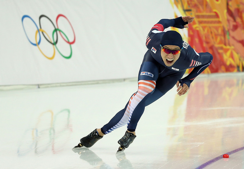 . Kyou Hyuk Lee of South Korea competes in the Speed Skating Men\'s 1000m during day five of the Sochi 2014 Winter Olympics at Adler Arena Skating Center on February 12, 2014 in Sochi, Russia.  (Photo by Robert Cianflone/Getty Images)