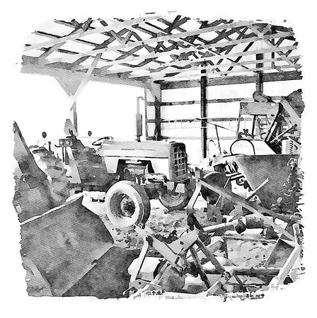 Farm & Barn Collection Wall Art Black and White
