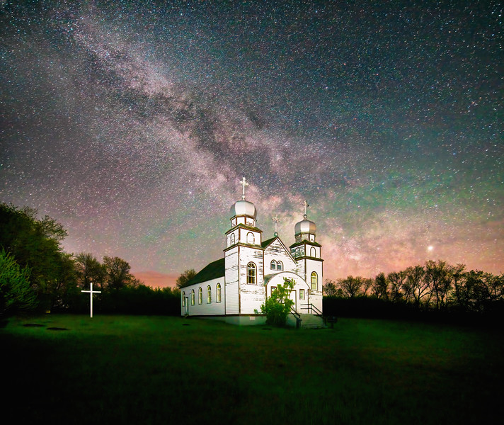 Borchiew Church Milky Way