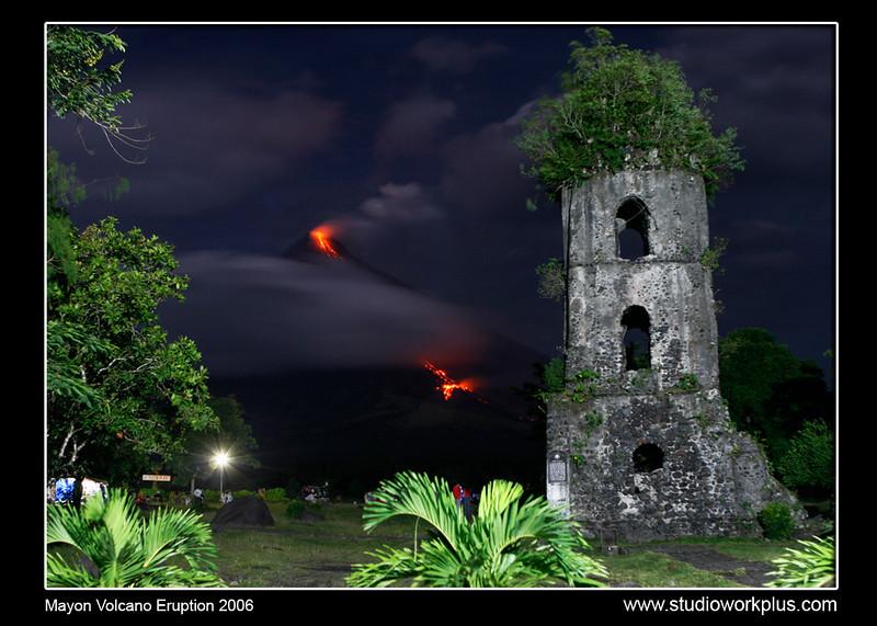 Maon Volcano Eruption