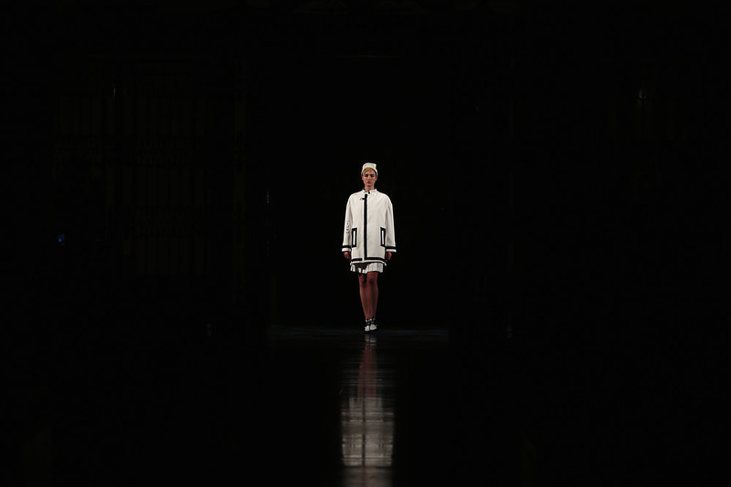 . A model walks the runway at the Ming Pin Tien show during London Fashion Week Fall/Winter 2013/14 at Freemasons Hall on February 19, 2013 in London, England.  (Photo by Tim Whitby/Getty Images)