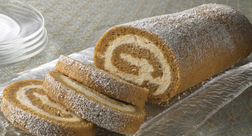 . Pumpkin Cake Roll with Cream Cheese Filling McCormick
