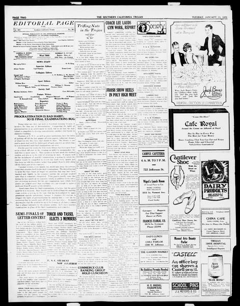 The Southern California Trojan, Vol. 14, No. 50, January 23, 1923