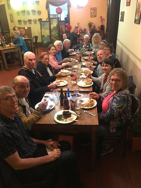 Volunteer trip - dinner out