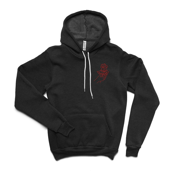 Organ Mountain Outfitters - Outdoor Apparel - Hooded Pullover - Desert Rose Hoodie - Black Red Front.jpg