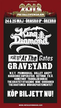 KING DIAMOND – Metallsvenskan 25/5 2013