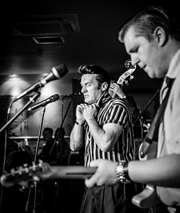 The Outsiders, Welsh Rockabilly 2018 B&W