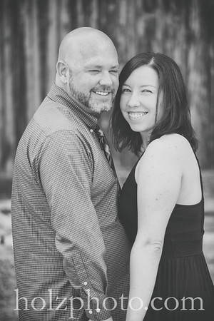 Katie & Steve B/W Engagement Photos