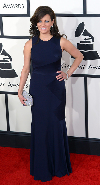 . Martina McBride arrives at the 56th Annual GRAMMY Awards at Staples Center in Los Angeles, California on Sunday January 26, 2014 (Photo by David Crane / Los Angeles Daily News)