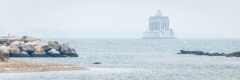 Ledge Light in Fog