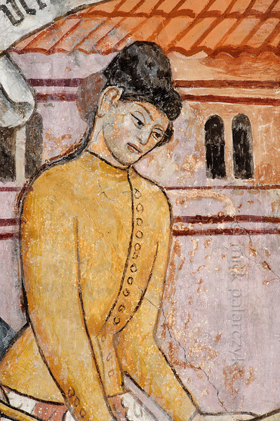 Fresco of an executioner of St. Sebastian, Venanson.