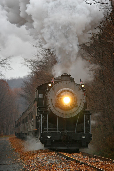 Late Autumn steam Western Maryland Scenic Railroad