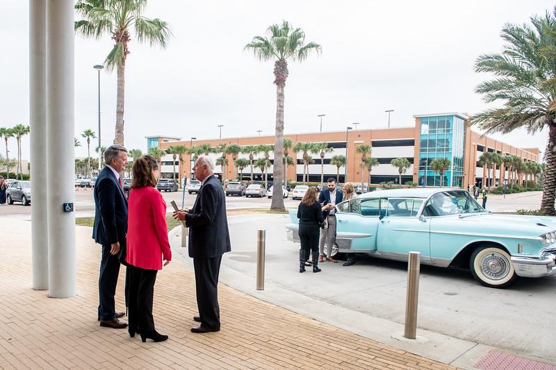 President Emeritus Dr. Robert Furgason and his family arrive to the TAMU-CC Furgason Engineering Building naming ceremony on December 7, 2018 at Texas A&M University-Corpus Christi.