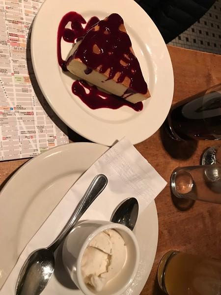 Dessert at Vezzo Restaurant.