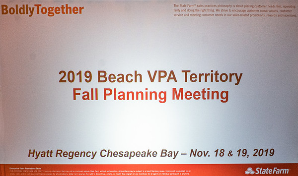 BEACH ALL-AGENT PLANNING CONFERENCE 11-18-2019
