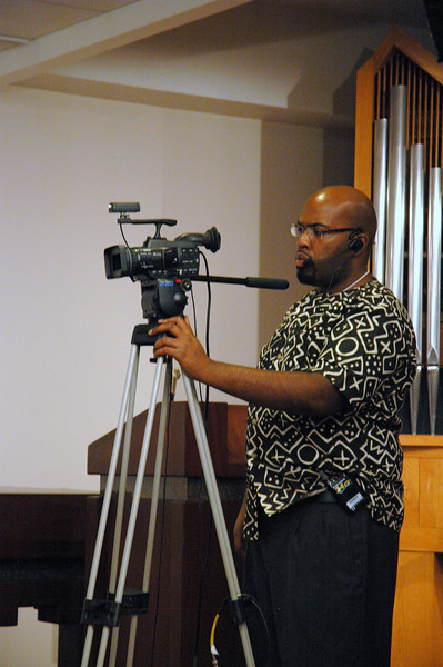 Ronnie Huter, ELCA Information Technology, was one of three camera operators during the November 21, 2010 ELCA Online Town Hall Forum with ELCA Presiding Bishop Mark S. Hanson.