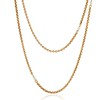 Vintage Yellow Gold Long Chain with Pearl Accents 0