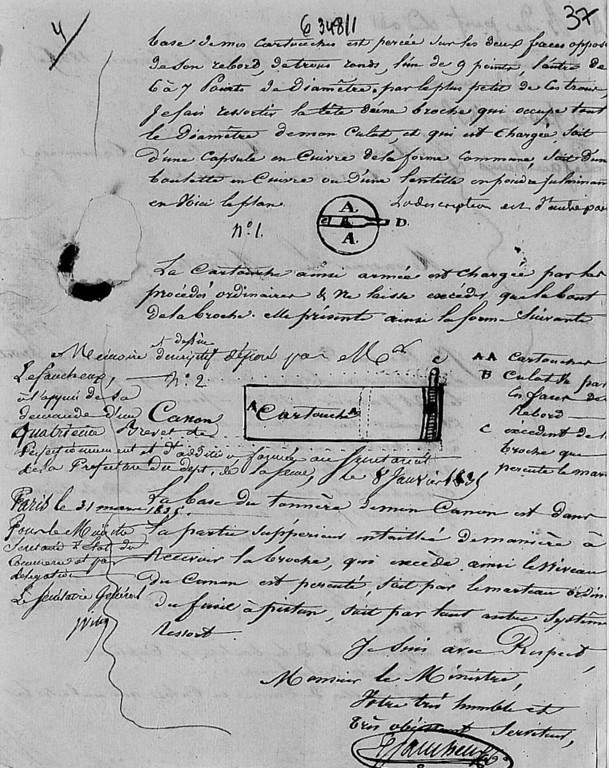 Image of drawing from 31 Mar 1835 patent