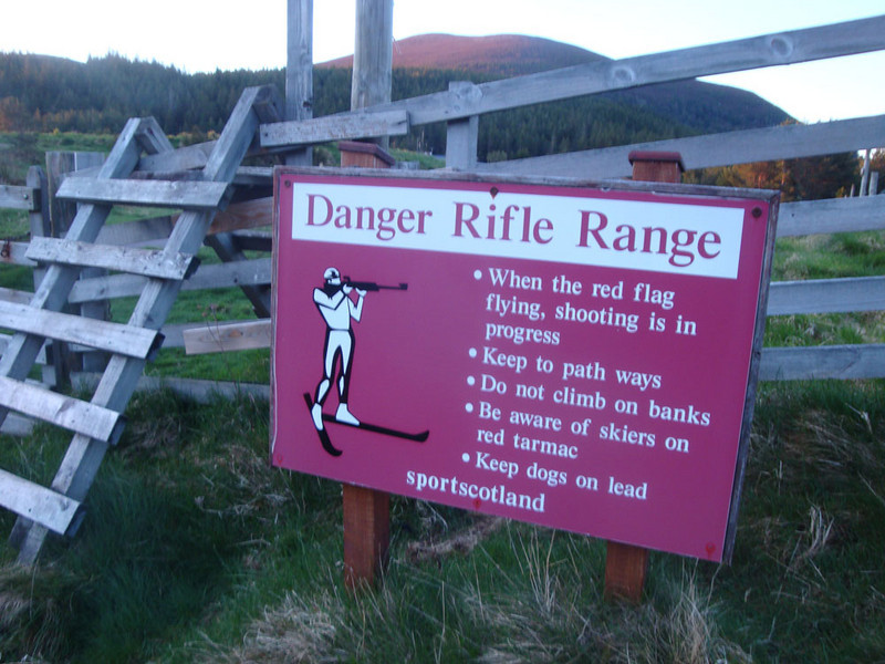 I expect this is the only place in the UK where you can train for the Nordic ski/shooting olympic event.