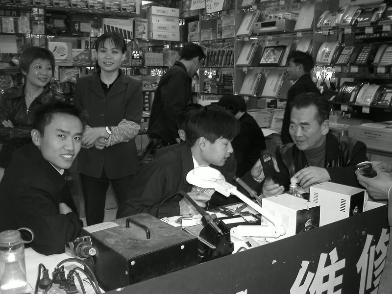 shanghai, mobile phone mart