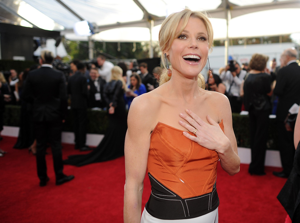 . Julie Bowen on the red carpet at the 20th Annual Screen Actors Guild Awards  at the Shrine Auditorium in Los Angeles, California on Saturday January 18, 2014 (Photo by Hans Gutknecht / Los Angeles Daily News)